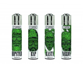 Clipper Lighters | Weed Silhouettes | Tray of 40 | CLIPWEEDSIL