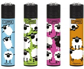Clipper Lighters | Sheep Fluo | Tray of 40 | CLIPSHEEPFLUO