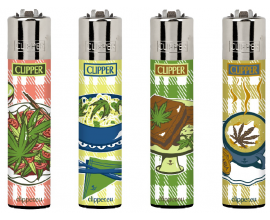 Clipper Lighters | Food Leaves | Tray of 40 | CLIPFOODLEAVES