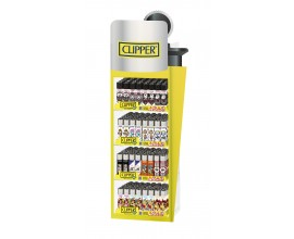 Clipper Lighters | Clipper Shape Display Stand | 200 Mixed Design Lighters + 40 Free | CLIPSTAND-SHAPE