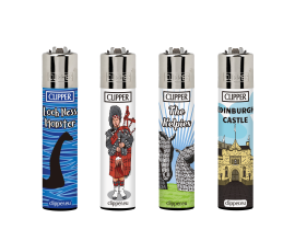 Clipper Lighters | Scotland Touristic | Tray of 40 | CLIPSCOTTOUR