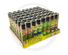 Clipper Lighters | Weed Food | Tray of 48 | CLIPWEEDFOOD48