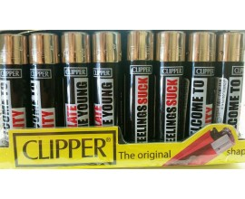 Clipper Lighters | New UK Statements | Tray of 40 | CLIPNSUK