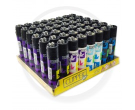 Clipper Lighters | Spray Leaves | Tray of 48 | CLIPSPRAYLEAVE48