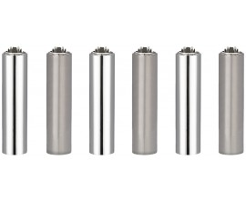 "Clipper Lighters | Micro Metal Covers | SILVER ""FUNDA PLATA"" 