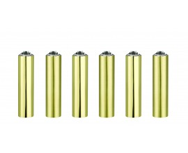 Clipper Lighters | Micro Metal Covers | GOLD | Tray of 30 | CLIPMMC-GOLD