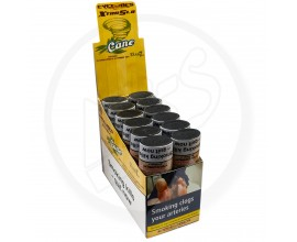 Cyclone | XtraSlo Cigar Blunt Wraps with Re-Useable 7-Day Soaked Dank Tips | CANE | Pack of 24 (12 x 2) | CYC-SUGARCANE