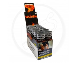Cyclone | XtraSlo Cigar Blunt Wraps with Re-Useable 7-Day Soaked Dank Tips | MAYHEM | Pack of 24 (12 x 2) | CYC-MAYHEM