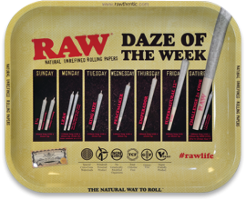 RAW - Metal Rolling Trays - DAZE OF THE WEEK DESIGN - RAWT-DAZE