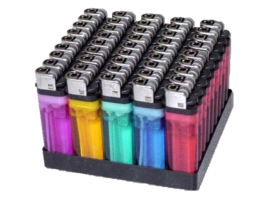 Tray of Disposable Lighters (50) - DISPL