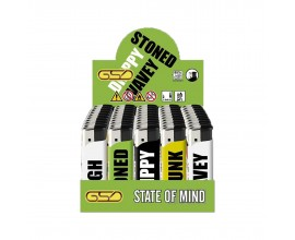 Refillable Electronic Lighters - State of Mind - Tray of 50 - ERLSOMIND