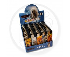 Refillable Electronic Lighters - Animals - Tray of 50 - ERLANIMAL