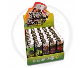 Refillable Electronic Lighters - Bob Marley 1 - Tray of 50 - ERLBOB