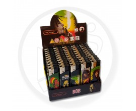 Refillable Electronic Lighters - Bob Marley 2 - Tray of 50 - ERLBOB2