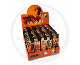Refillable Electronic Lighters - Dogs - Tray of 50 - ERLDOG