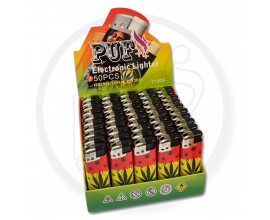 Refillable Electronic Lighters - Leafs 1 - Tray of 50 - ERLLEAF1