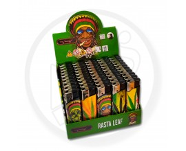Refillable Electronic Lighters - Rasta Leaf - Tray of 50 - ERLRASTALEAF
