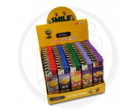 Refillable Electronic Lighters - Smile - Tray of 50 - ERLSMILE
