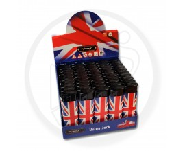 Refillable Electronic Lighters - Union Jack - Tray of 50 - ERLUJ