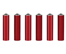 "Clipper Lighters | Micro Metal Covers | RED ""ELECTRIC DEVIL"" 