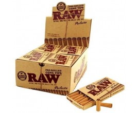 RAW | Pre-Rolled Perfecto Cone Tips | Box of 20 Packs | 21 Tips Per Pack | RAWPRT-CPER