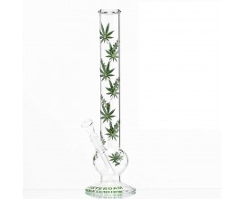 "45cm Glass ""Amsterdam XXX Leaf"" Waterpipe - GB2564"