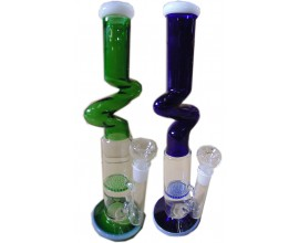 "35cm Glass Waterpipe with ""Z-Kink"" - GB5123"