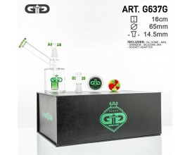 16cm Grace Glass Sidecar Bubbler Gift Set - GB637