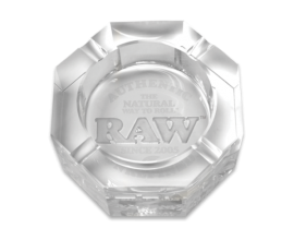 RAW   Crystal Glass Ash Tray   1 x Single   RAWASH-CRYSTAL