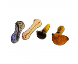 10cm Heavy Inside Out Glass Pipes - GPISO4