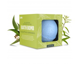GRN CBD | 35mg Broad Spectrum CBD Bath Bomb | 1 x Single | EUCALYPTUS & LEMONGRASS