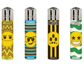 Clipper Lighters | Happy Emoji | Tray of 40 | CLIPHAPEMO