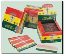Hornet - Kingsize Slim Rasta Papers (50) - HORN2