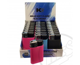 K2 - Maxx Soft Touch Electronic Lighters - Tray of 24