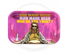 Smoke Arsenal Rolling Tray - LARGE (28cm x 18cm) - GOD MADE WEED