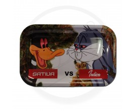 Smoke Arsenal Rolling Tray - LARGE (28cm x 18cm) - SATIVA VS INDICA