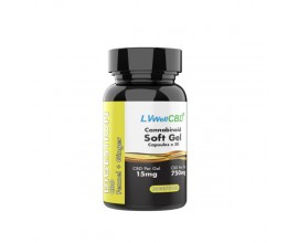 LVWell CBD - Broad Spectrum CBD Soft Gel Capsules - DIGESTION (Contains Fennel & Ginger) - 15mg Per Capsule - Pack of 50 / 100 - 750mg / 1500mg