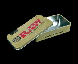 RAW | 2oz Tobacco Tin | BROWN / CLASSIC RAW DESIGN | 1 x Single