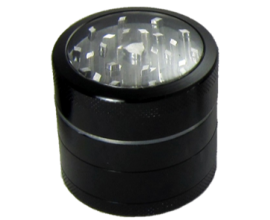 50mm Clear Top 3-Part Metal Grinder (Single) - MPG50C3