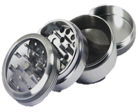 50mm Clear Top 4-Part Metal Grinder (Single) - MPG50C4