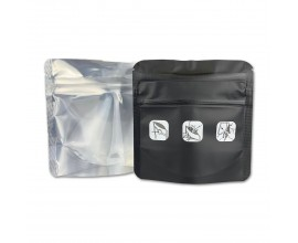 Resealable Mylar Barrier Baggies - Child-Proof  - 1g - Pack of 50