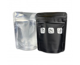 Resealable Mylar Barrier Baggies  - Child-Proof - 3.5g - Pack of 50