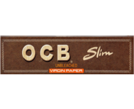 OCB - Brown Kingsize Slim Unbleached Papers (50) - OCBKSB
