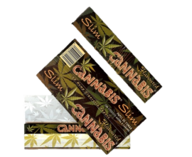 Cannabis Flavoured Kingsize Slim Papers (25) - CANNABISKS