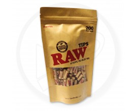 RAW | Pre-Rolled Tips | 1 x Single Bag of 200 Tips | RAWPRTBAG200