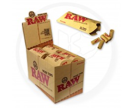RAW | Pre-Rolled WIDE Tips | Box of 20 Packs | 21 Tips Per Pack | RAWPR-WIDE20