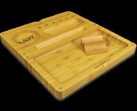 RAW | Bamboo Wooden Back Flip Rolling Tray | RAWTWOODF