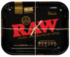 RAW | Metal Rolling Trays | BLACK | Various Sizes | RAWT-BLACK