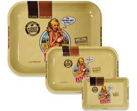 RAW | Metal Rolling Trays | GIRL | Various Sizes | RAWT-GIRL