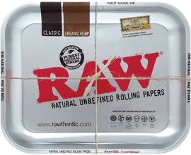 RAW | Metal Rolling Trays | METALLIC CHROME | Various Sizes | RAWT-CHROME